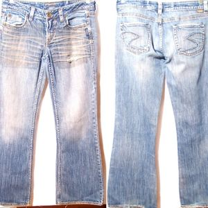 Silver Jean co, Jean's Lola distressed size 30/33